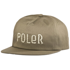POLER Fur Font Snapback copricapo marrone